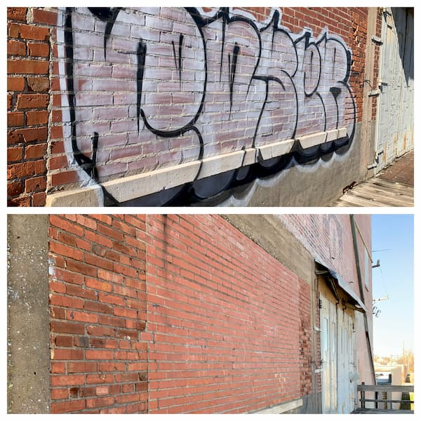 Graffiti removal service
